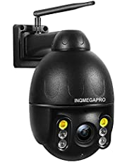 INQMEGAPRO 1080P PTZ Dome draadloze bewakingscamera, IP66, waterdicht, beveiligingscamera, kleurrijk nachtzicht, bidirectionele audio, bewegingsdetectie
