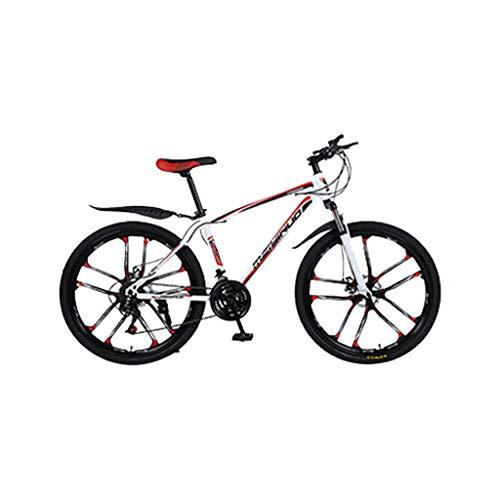 SHUANGA Outroad Mountainbike Stahl Rahmen aus Kohlenstoffstahl 26 Zoll 21-Gang-FahrradFahrrad Carbon Stahlrahmen Warhawk zehn Messer ein Rad