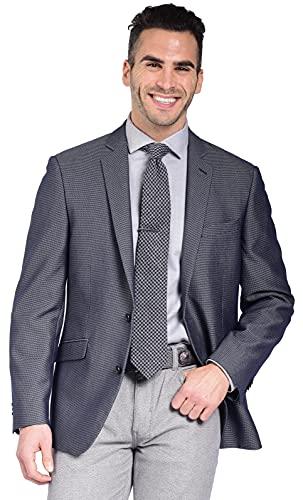 공예 & 소울 남자의 슬림 적합 스트레치 질감 된 푸른 멋진 블레이저 재킷 스포츠 코트