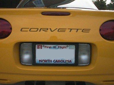 Rear Bumper Vinyl Inlay Decal - C5 Corvette 97-04 - (Color: 3D Carbon Fiber)