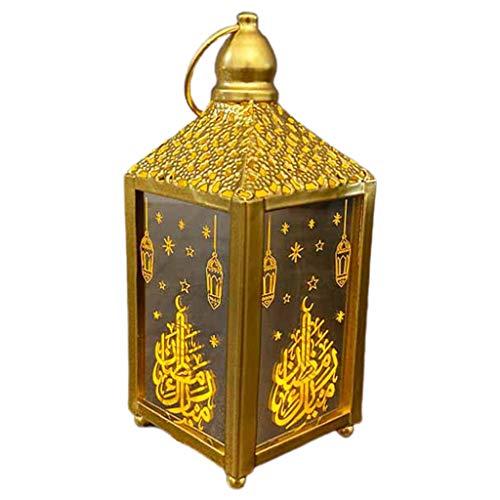 Eid Square Ramadan - Lámpara de techo para colgar con diseño de ramadán cuadrado elegante de Guangruiorrty