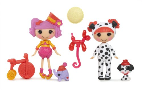Mini Lalaloopsy Fun House dolls, Peanut, Ember, and Accessories