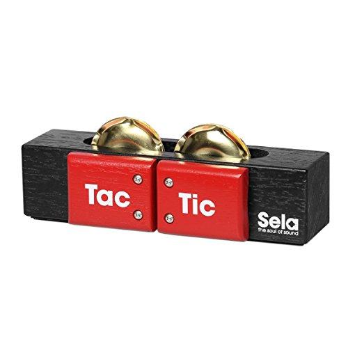 """Sela SE 055 Tac Tic, Cajon Zubehör, """"3in1"""" Multi-Percussion-Instrument (Kastagnetten, Schellen, Shaker), Made in Germany"""