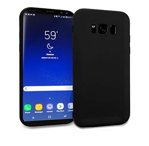 MyGadget Silikon Hülle TPU Hülle für Samsung Galaxy S8 Plus - Soft Back Cover (1,2 mm) Schutzhülle Dünn und Flexibel Handyhülle Schale - Matt Schwarz
