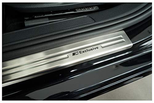 tuning-art 839 Edelstahl Einstiegsleisten Set für VW Golf 7 Variant Limo 2012-, Farbe:Silber