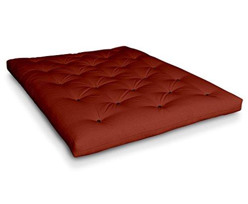 Futon Naoko Baumwollfuton Futonmatratze mit 6X Baumwolle von Futononline, Größe:70 x 200 cm, Color Futon SE Amazon:Terracotta/Filz schwarz