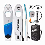 Cressi Kinilau, Tabla de Stand Up Paddle Hinchable de Travesía, 10´6', Blanco/Azul