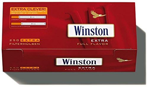 1000 (4x250) Winston EXTRA (Hülsen, Filterhülsen, Zigarettenhülsen)