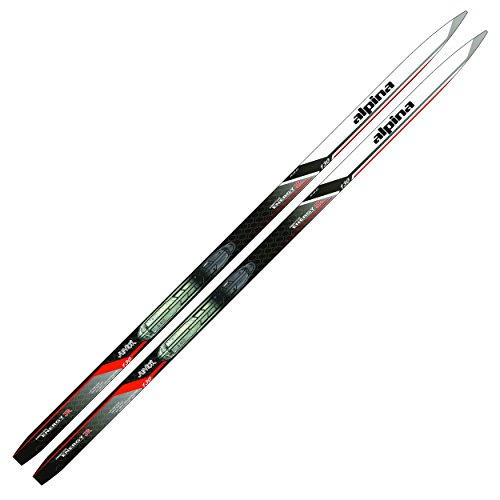 Alpina Sports Youth Energy Junior Cross-Country Nordic Touring Skis with Rottefella NIS Binding Mounting Plates, 120cm