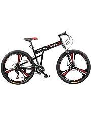 دراجة قابلة للطي من فتنس مينتس، لون اسود، FM-F26-03M-BK