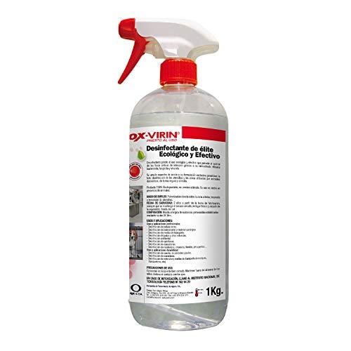 OX-VIRIN Desinfectante Liquido Ox-Virin, Con Pistola, 1 Litro, Ecologico