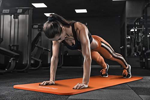 POWRX Tapis de Gymnastique Anti-DÉRAPANT sans phtalates/Tapis de Sol – Pilates / 190 x 60, 80 ou 100 x 1,5 cm I Sangle de Transport + Sac + Poster d´entraînement différents Couleurs