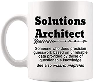 Definition Solutions Architect Meaning Mug Present - 11Oz Coffee Cup - Gag Gifts For Men Women T-Shirt Cups Mugs