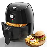 Air Fryer 3.5L Easy to Clean, Chip Pan Fryer, Non Stick, Detachable Basket, Bpa Free, Adjustable Temperature Control and Timer, Black, 1500W- Aigostar Hayden 30Khn.