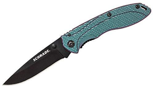 Schrade 8Cr13MoV Steel Couteau Pliant Couleur Shifting en Aluminium Longueur de la Lame 7,29 cm