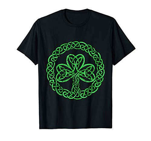 Celtic Knot Irish Shamrock 3-Leaf Clover St Pats Day T-shirt