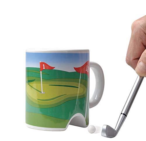 Coffee Mug With Golf Club Pen