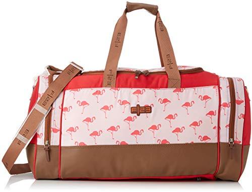 F 23, Urban Survival Reisetasche, 63 x 30 x 34 cm, Inkl. 2 Seitentaschen, 54 Liter, Flamingo, Beige/Rot, 30029-4