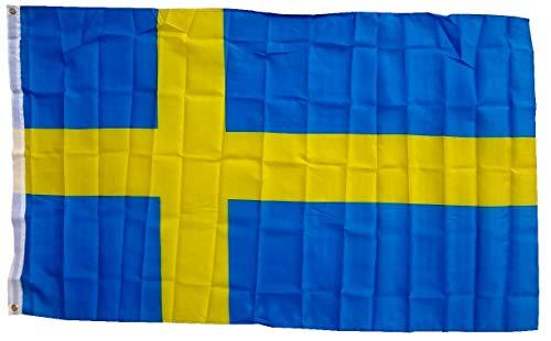Flaggenking Schweden Flagge/Fahne, mehrfarbig, 150 x 90 x 1 cm, 16998