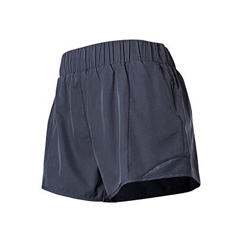 Pantalones Cortos de Yoga de Cintura elástica de Color sólido para Mujer, Pantalones Cortos Deportivos Transpirables de Entrenamiento para Correr cómodos para Ocio al Aire Libre M