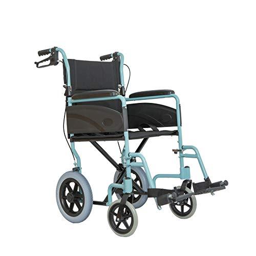 Dash Express - Silla de ruedas plegable ultraligera con asas altas, color azul