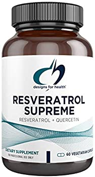 Designs for Health Resveratrol Supreme - Trans Resveratrol from Japanese Knotweed + Quercetin - Healthy Aging + Cardiovascular Support Supplement Non-GMO  60 Capsules