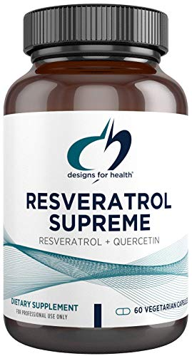 Designs for Health Resveratrol Supreme - Trans Resveratrol from Japanese Knotweed + Quercetin - Healthy Aging + Cardiovascular Support Supplement, Non-GMO (60 Capsules)