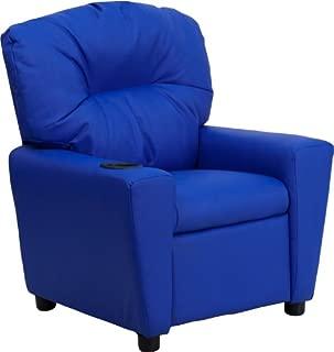 Flash Furniture Contemporary Blue Vinyl Kids Recliner...