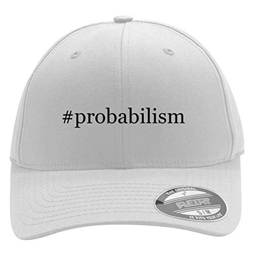 #Probabilism - Men's Hashtag Flexfit Baseball Cap Hat, White, Large/X-Large