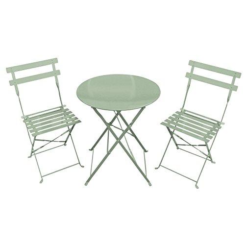 Bentley Garden 3 Piece Metal Garden Patio Furniture Bistro Set Table & 2 Chairs