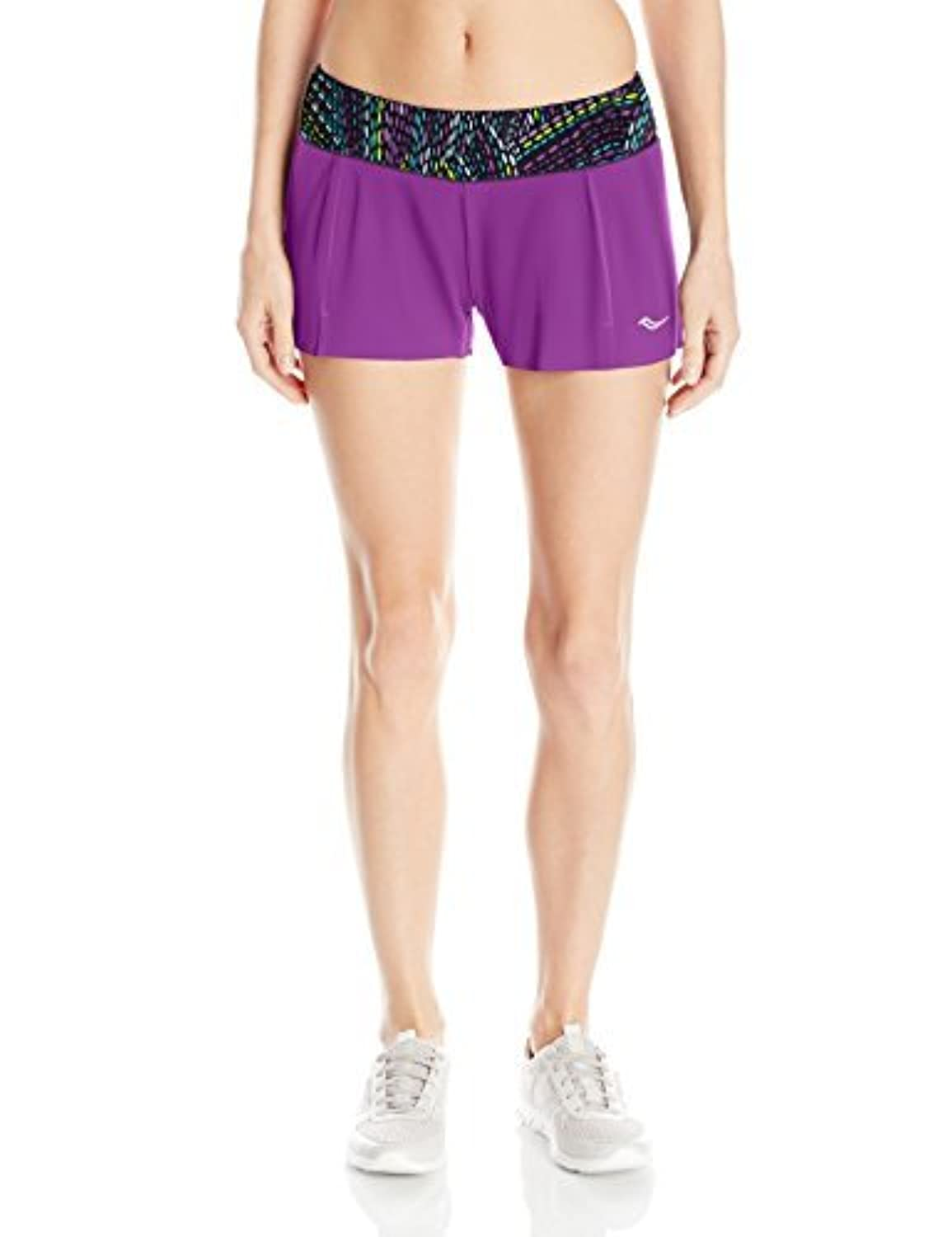 Saucony Women's Pinnacle Shorts Dahlia/Multicolor X-Small [並行輸入品]