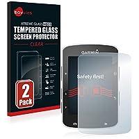 savvies Cristal Templado Compatible con Garmin Edge 520/820 (2 Unidades) Protector Pantalla Vidrio Proteccion 9H Pelicula Anti-Huellas