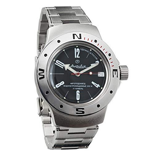 Vostok Amphibian 060484Ruso Militar reloj 2416b 200m auto