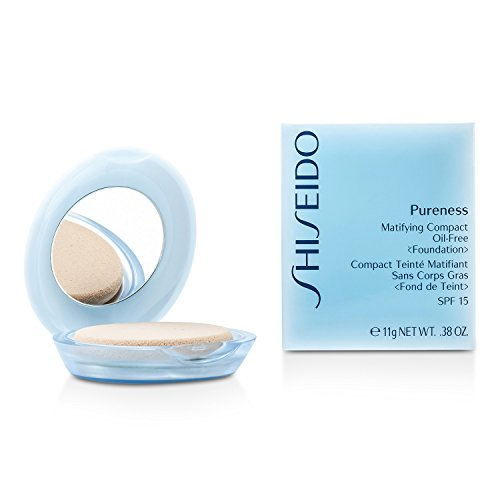 Shiseido Pureness Matifying Compact Oil Free Foundation SPF15 (Case + Refill) - # 30 Natural Ivory 11g/0.38oz - Make-up