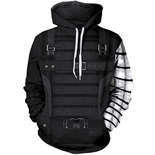MIANslippers Jungen mit Kapuze Hoodie Hoody Winter Soldat Jogger Anzug für Kinder Mädchen Geburtstagsgeschenke Trainingsanzug Front Pocket,Winter Soldier-M
