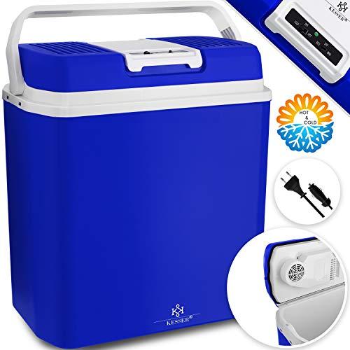 Kesser® 24 Liter Kühlbox | KÜHLT und WÄRMT | Thermo-Elektrische Kühlbox 12 Volt und 230 Volt | Mini-Kühlschrank | für Auto und Camping | EEK A+++ | Mini-Kühlschrank | Auto und Camping Blau