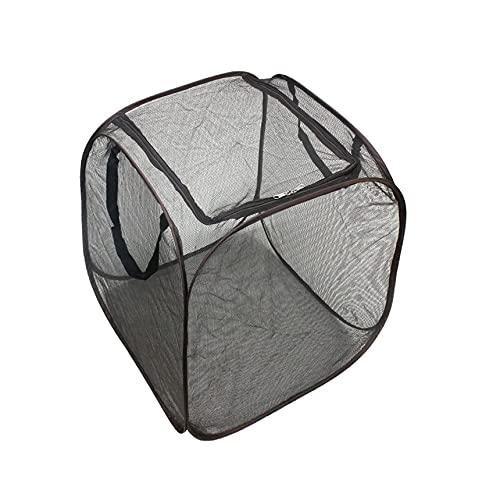 屋外用 ボックス式ゴミネット カラスよけゴミネット 超軽量 折りたたみ式 野郎猫防止 ゴミ飛散防止 ゴミ収集ボックス 大容量 屋外高強度ネット (1点入)