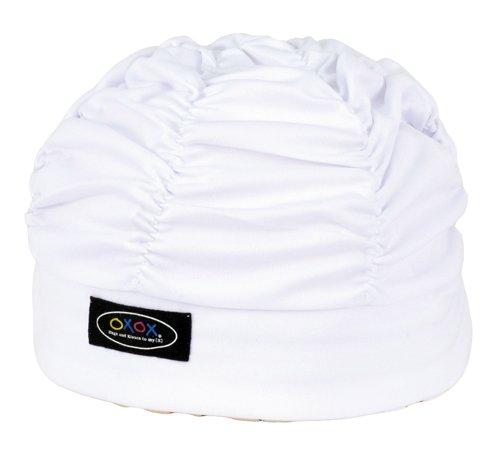 FOOTMARK(フットマーク) 水泳帽 スイミングキャップ ゆったりアクアキャップギャザー 508001 ホワイト(01)