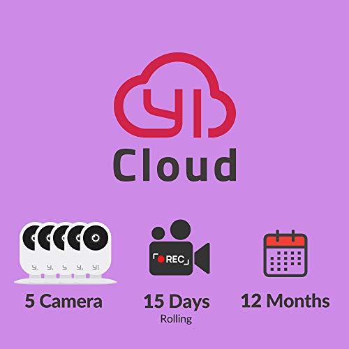 YI/Kami Cloud Plan 12 Month, 5 Camera, 15d rolling storage service [PC/Mac Online Code] Security
