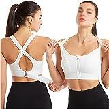 Ownlife Deportes Sujetador Mujer Sportswear Cultivo Deporte Top Top Ajustable Cinturón Zipper Yoga Running Bras Push Up Chaleco A Prueba de Choque Ropa Interior Gimnasio Bralette