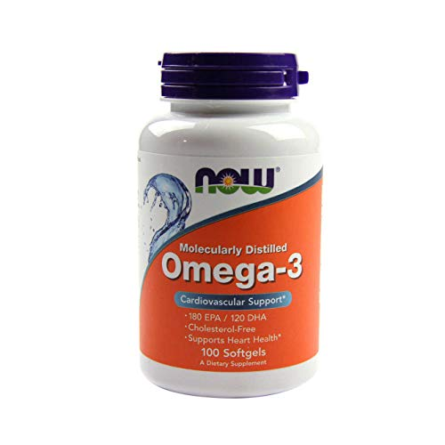 Now Foods - Omega-, 3 molekular destillierter Fischtran - 100 Softgels