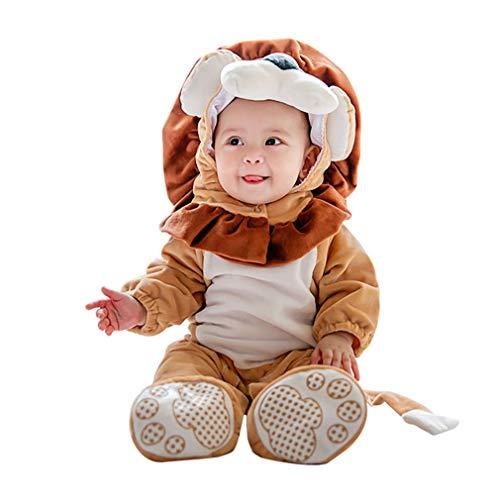 Tuta Animale Leone,Unisex Pagliaccetti Bambino Inverno Autunno Jumpsuits Halloween Carnevale Cosplay