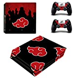 Decal Moments PS4 Pro Console Controllers Skin Vinyl Decals Stickers for Playstation 4 Pro (PS4 Pro Only) Red Cloud