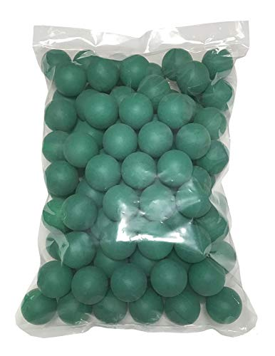 TAKASUE ピンポン玉 娯楽用 卓球ボール プラスチック ボール 無地 グリーン 100個
