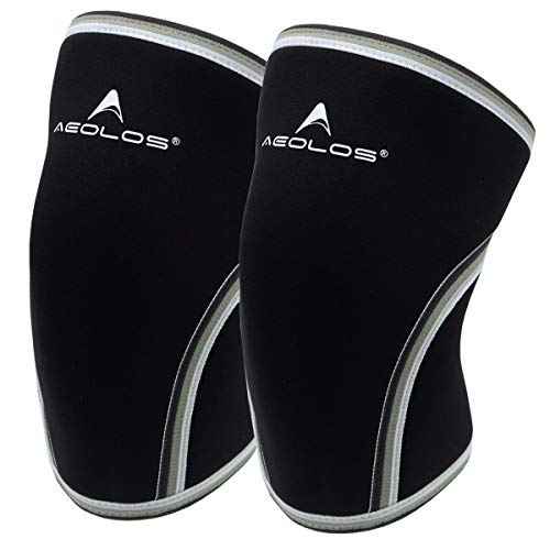 Knee Sleeves (1 Pair),7mm Compression Knee Braces for Heavy-Lifting,Squats,Gym and Other Sports (Large, Black)