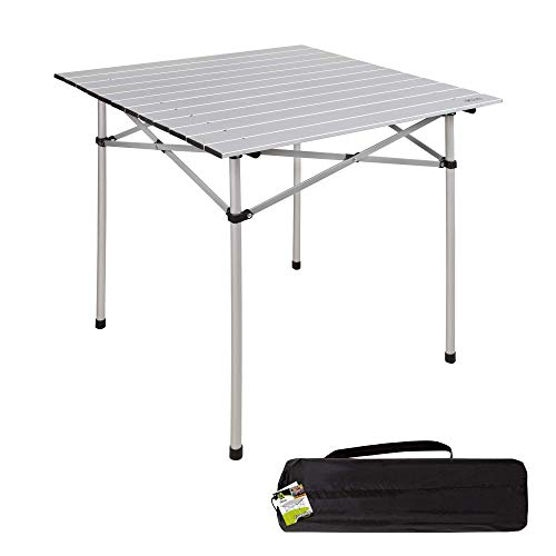 Aktive 52840 - Mesa camping plegable de aluminio 70x70x70 cm