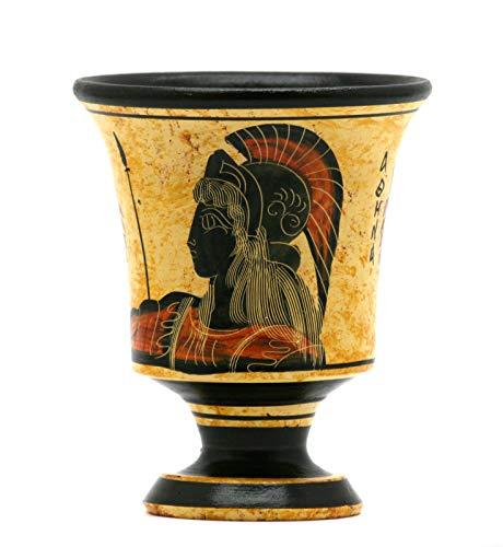 Taza de cerámica griega de Pitágora, de la diosa de la justicia...