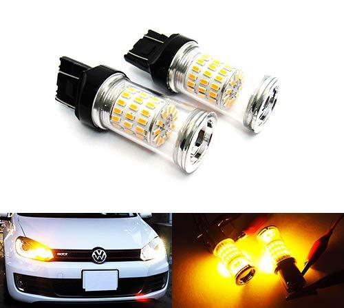 Lot de 2 ampoules LED Ambre 582 W21W WY21W 580 W21/5 W