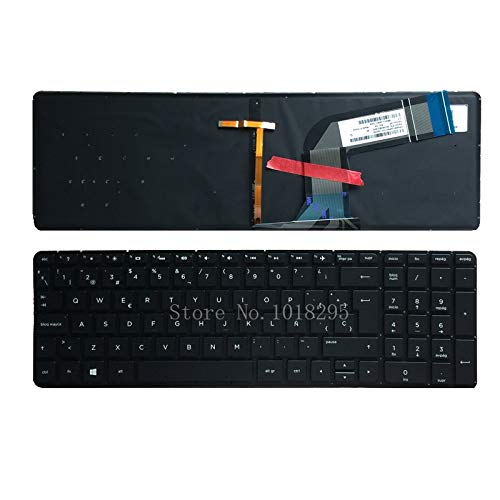 Laptop keyboard, Spanish laptop keyboard for HP Pavilion 15-P 15-P000 15t-p000 15t-p100 17-f 17-f000 17t-f000 Backlit keyboard