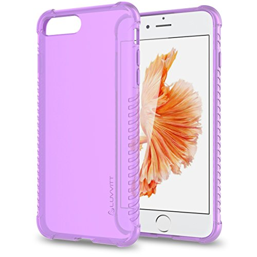 Luvvitt Clear Grip iPhone 7 Plus/iPhone 8 Plus Case with Air Pocket Reinforced Corners for Apple iPhone 7 Plus (2016) and iPhone 8 Plus (2017) - Violet